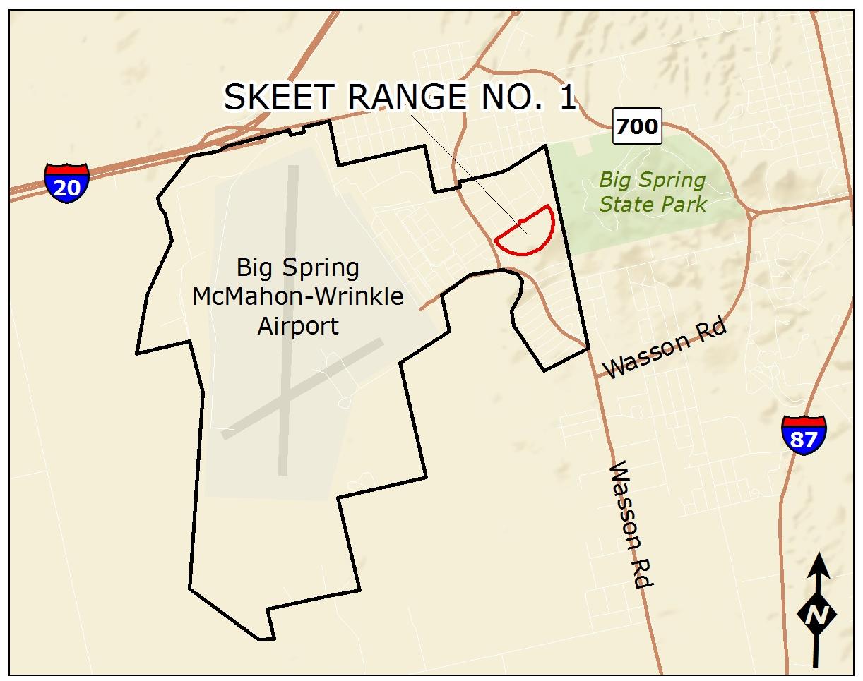 Map Of The Fuds Former Webb Air Force Base Skeet Range No 1