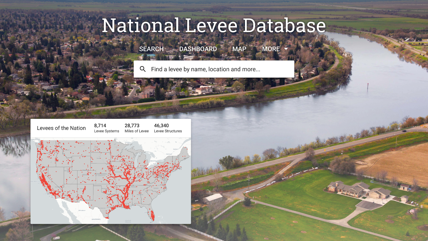 National Levee Database Screen
