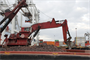 The dredge 'New York' performs dredging for the U.S. Army Corps of Engineers in the Port Jersey Channel, New Jersey. The Corps' New York District has been deepening the shipping channels in the New York /New Jersey Harbor to 50 feet to accommodate larger, deeper-draft ships. This will improve navigational safety and allow the port to accommodate the next generations of larger cargo vessels.
