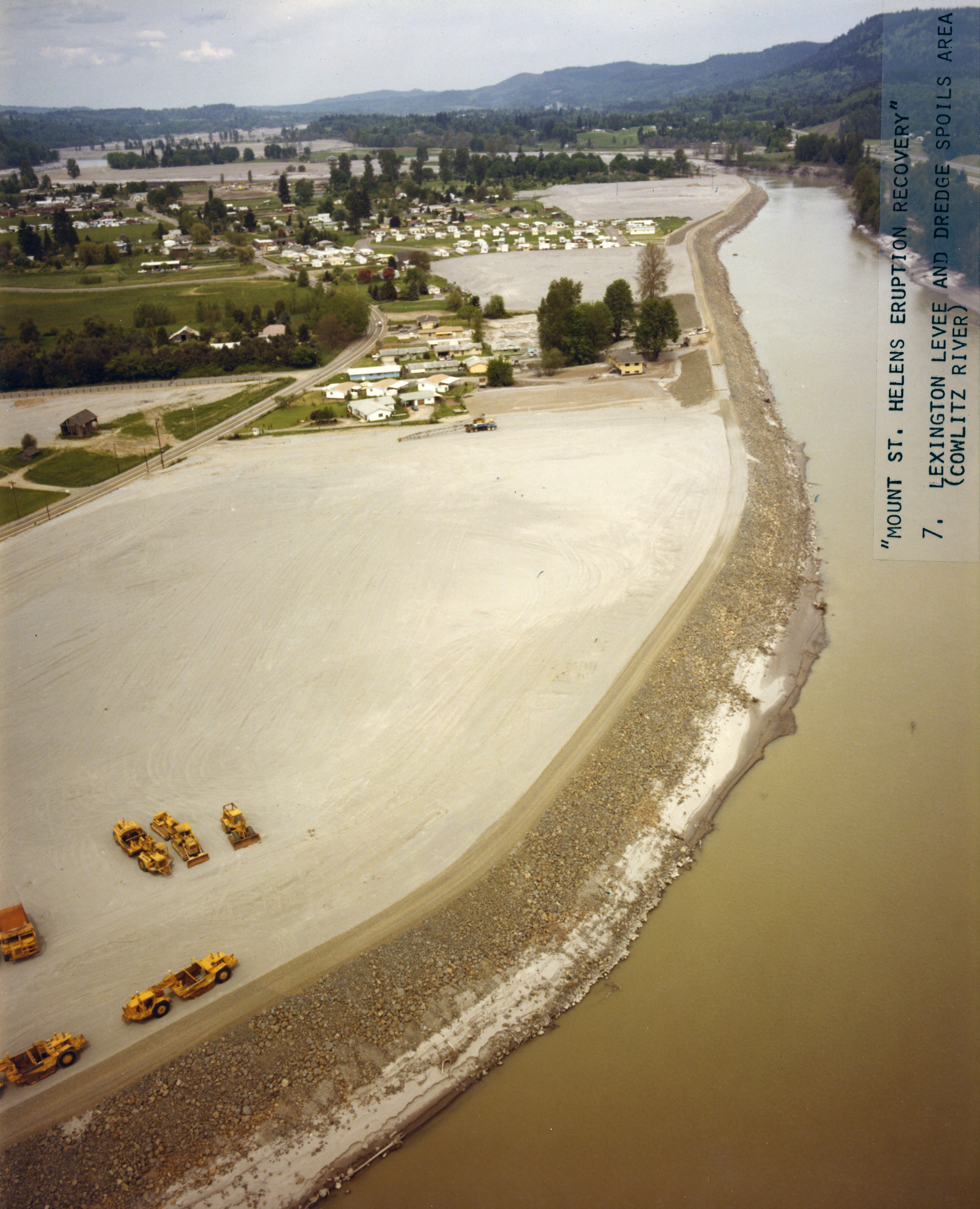 Levee along the cowlitz river