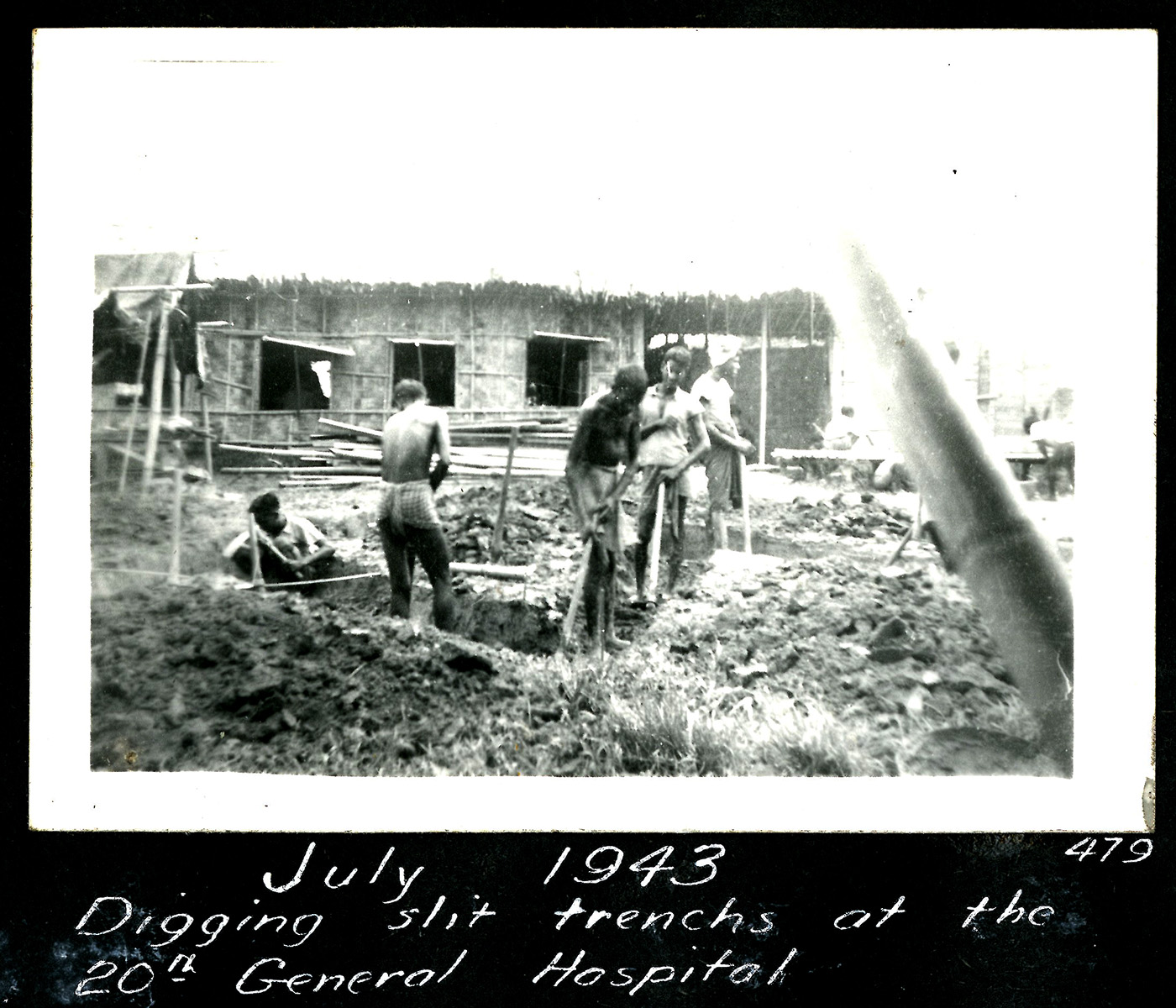 men digging trenches
