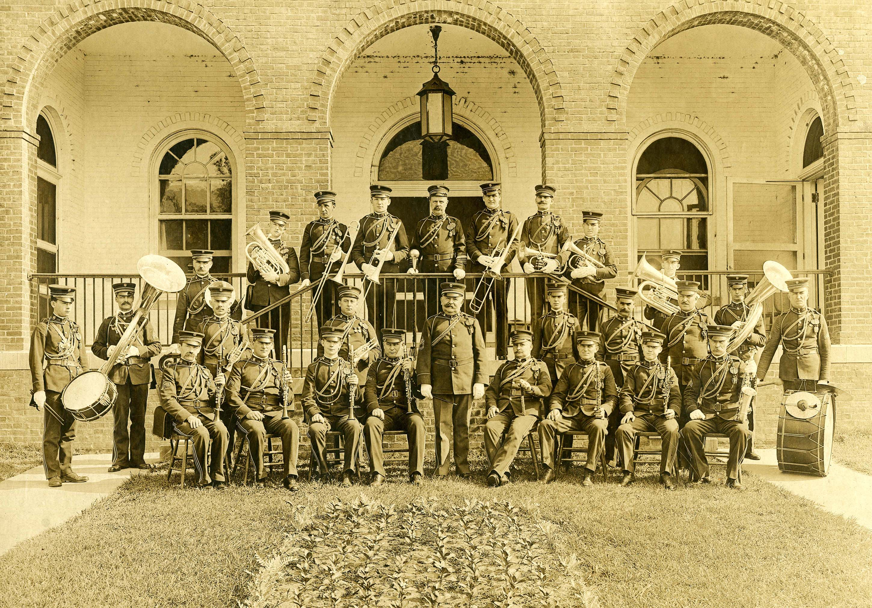 Engineer Band formal portrait at Washington Barracks DC