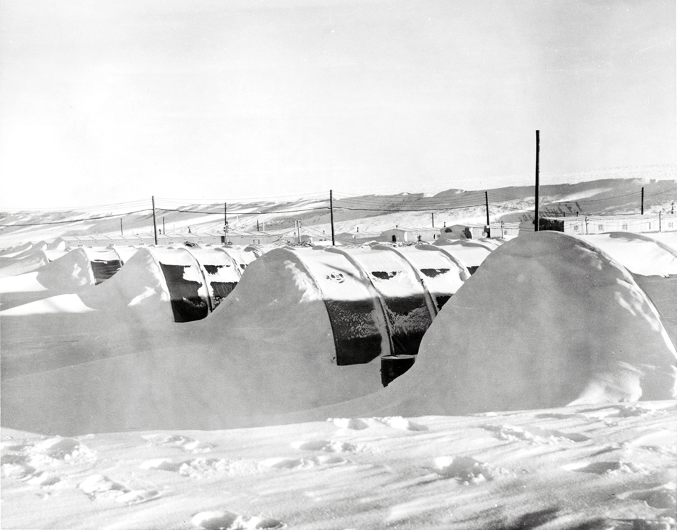 facilities buried in snow banks