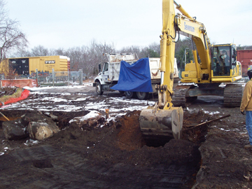 A contractor works at the Hatheway & Patterson Superfund Site. (Courtesy photo)