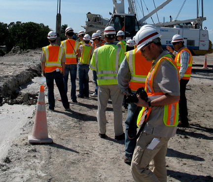 Site visit in Florida with representatives from Rijkwaterstaat.
