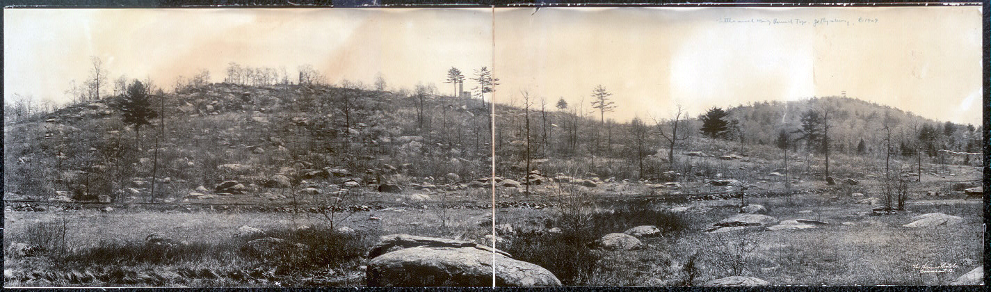A view of Little Round Top as it looked in the early 20th century