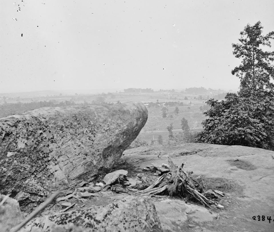 The view from atop Little Round Top
