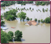 Photo of flooding on Missouri River